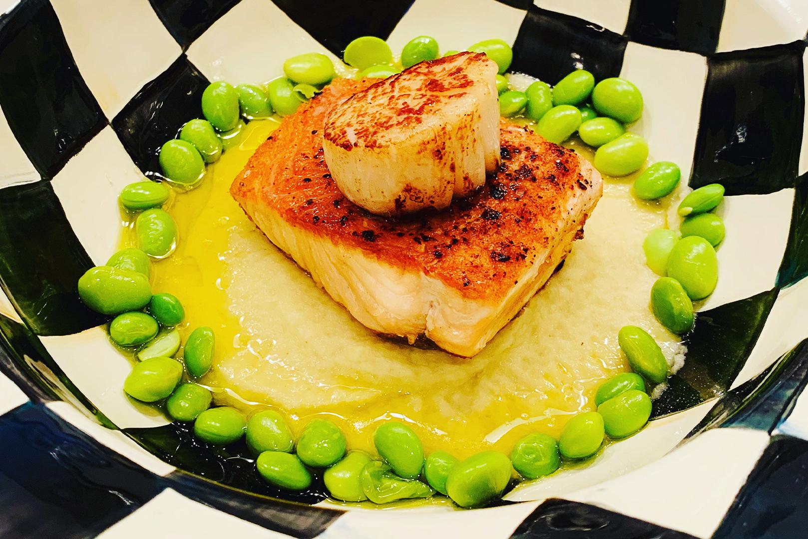 Salmon with Avocado Puree