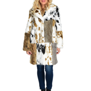 """Donna Salyers' Fabulous-Furs """"The Influencer"""" 2-Pocket Hook Front Pieced Coat"""